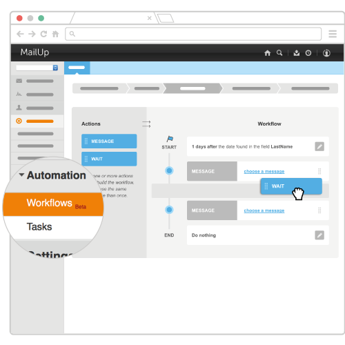 Create your workflow, in a few clicks