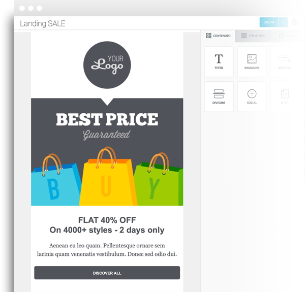 Create landing pages for SMS