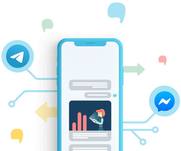 Start a conversation on Facebook Messenger and Telegram
